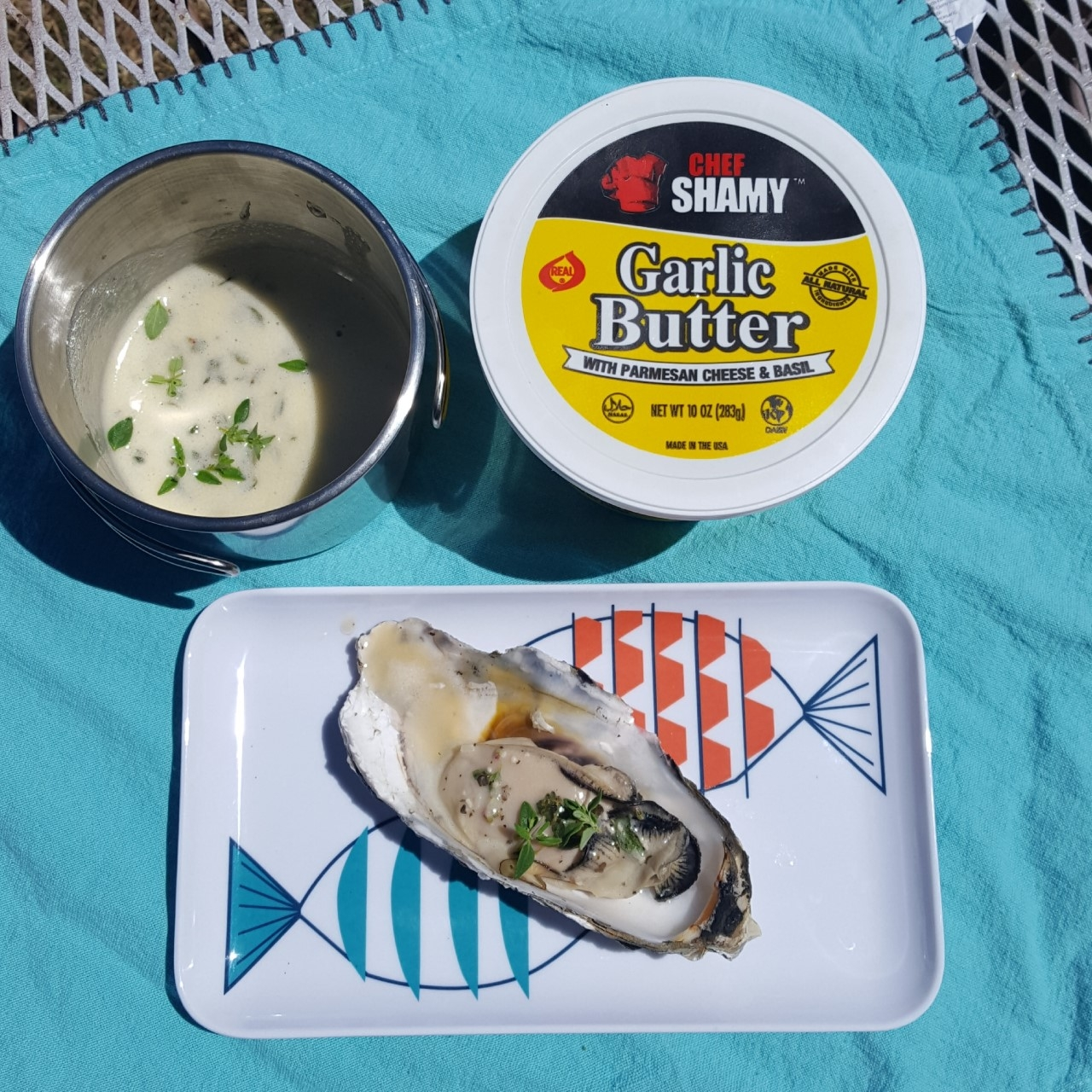 Grilled Oysters with Lemon Garlic Butter